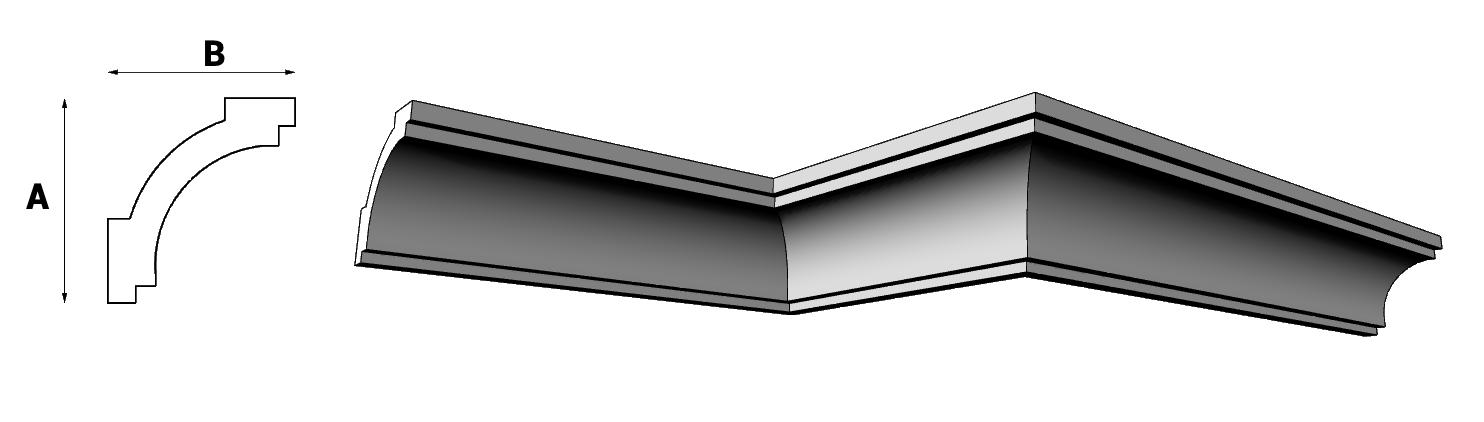 sgusci in eps per soffitti e pareti ART PL593